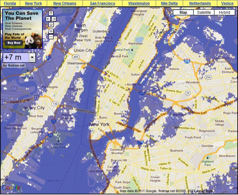 Sea Level Rise Map