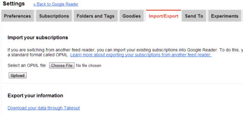 Google Reader Export 1
