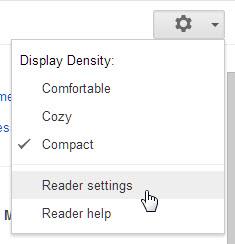 Google Reader Settings